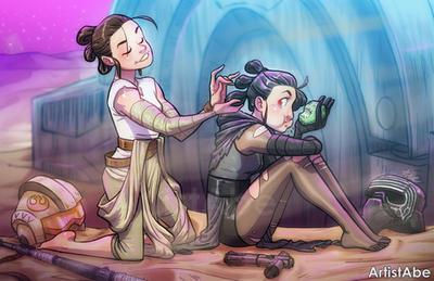 Rey and Kylie Ren