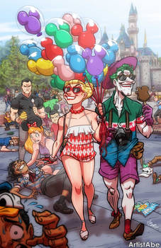 Harley and Joker Happiest Place On Earth