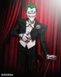 Joker in a Tux by ArtistAbe