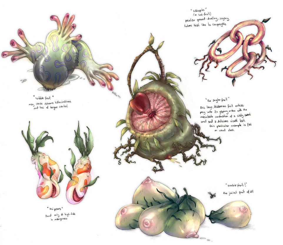 Weird Fruit by yvash