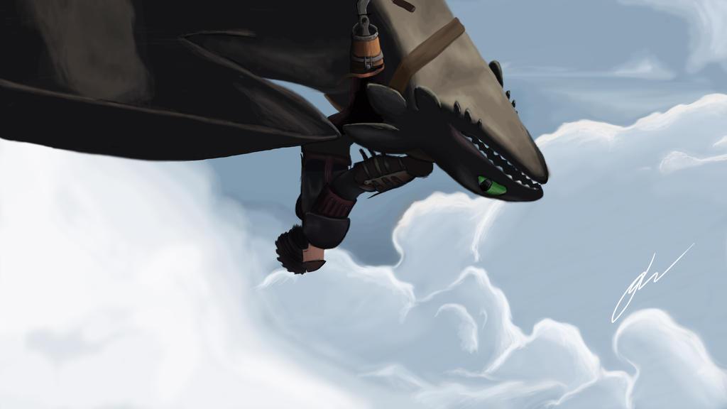 Toothless Flight (HTTYD 2) by Dashketch on DeviantArt