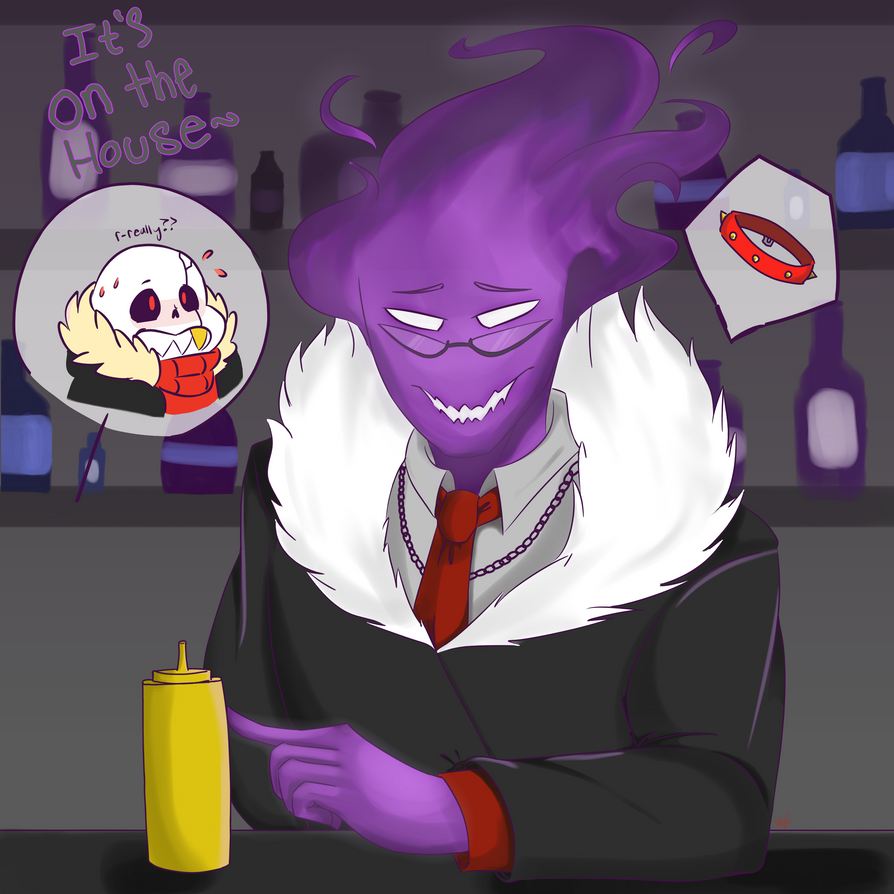 Underfell Grillby by crispicroissant