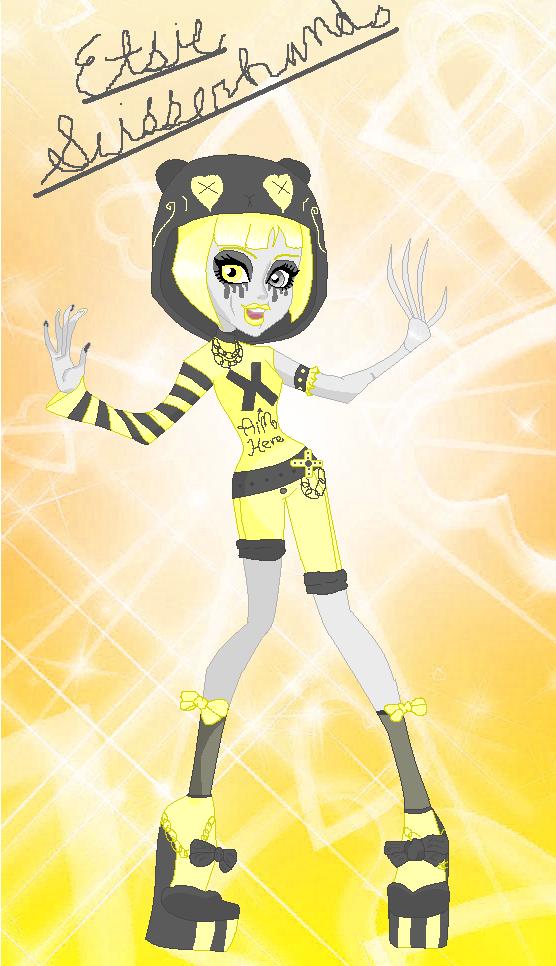Monster High OC  - Etsie Scissorhands by PinkPopcornWithSoda