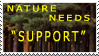 Nature needs support stamp by xXxLeonKunxXx