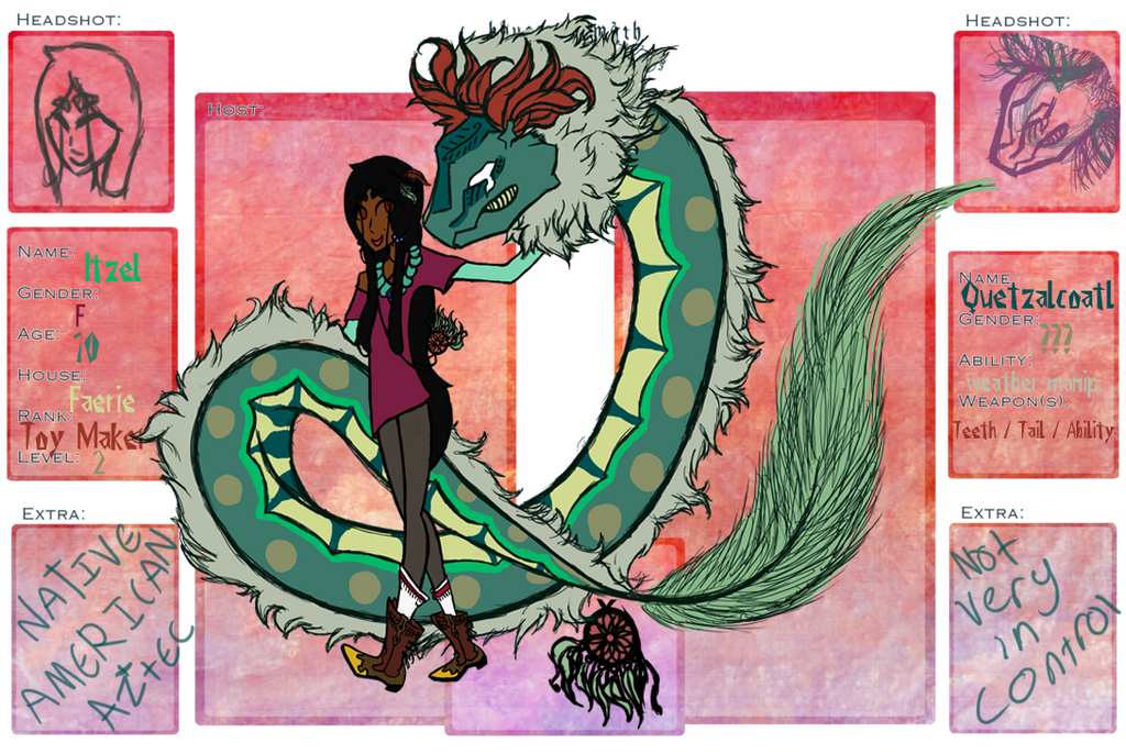 ||Itzel + Quetzalcoatl|| by aerophyte
