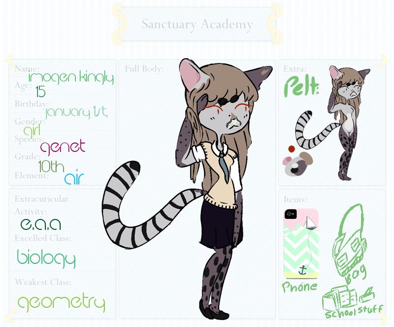 Imogen || Sanctuary Academy by aerosoI