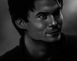 Damon Salvatore by fekb