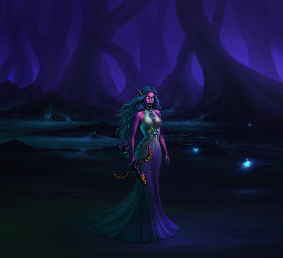 Tyrande Whisperwind by fekb