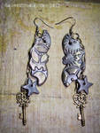Elegant Mechanical Bat Earrings
