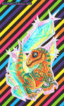 Crystal Disco Dino by squeekaboo