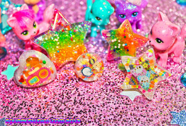 Rainbow Glitter Candy by squeekaboo
