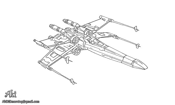 X Wing Line Drawing : X wing starfighter lineart by akididmorning on deviantart
