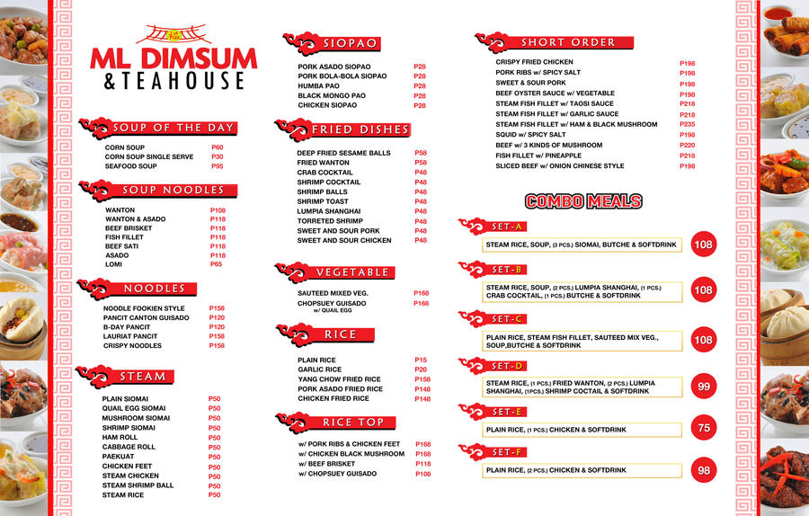 Ml Dimsum Menu List By StJmikel On Deviantart