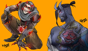 Shimada Demons [OVERWATCH] by KYOTEMERU-ARTS
