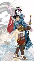samurai and geisha by lukemckay