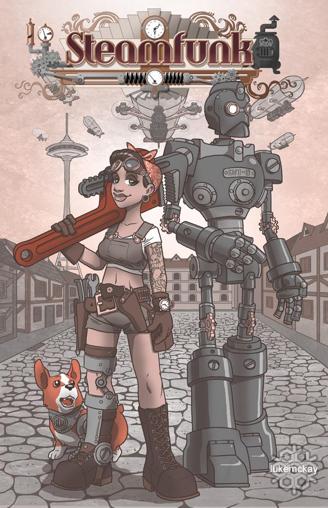 Steamfunk concept art by lukemckay