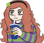 Vivian enjoying an ice cold beverage by CptNameless
