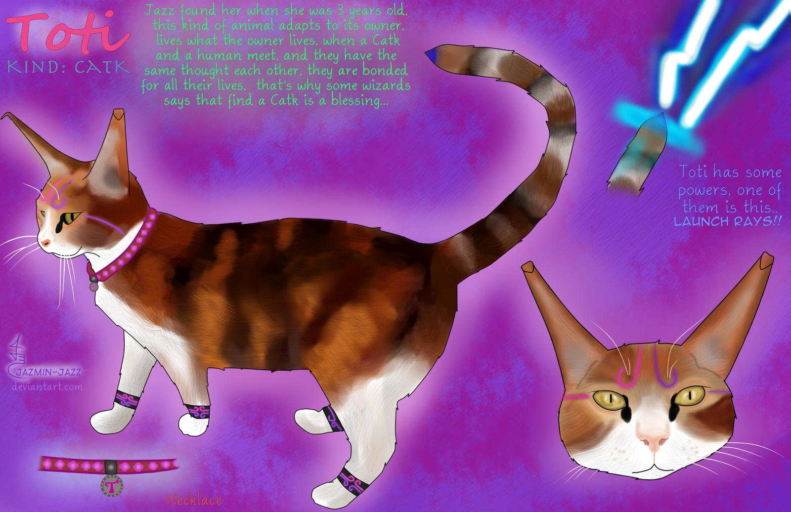 Oc Toti, a Catk animal , Avatar Jazz's mascot by Jazmin-Jazz