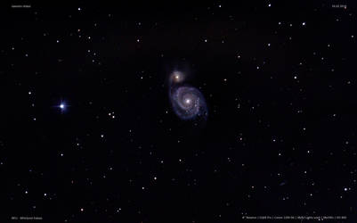 M51 Whirlpool Galaxy with NGC 5195 and IC 4263 by archonom