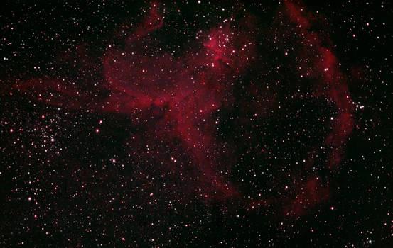Heart Nebula IC1805 in colors (2019-11-09)
