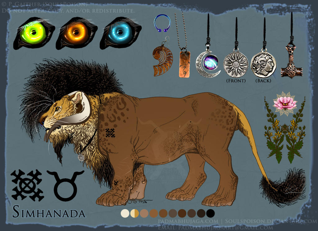 Simhanada Reference Sheet by soulspoison