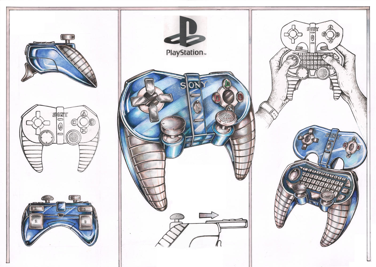 Sony PS4 Controller Concept Design by Pen-Tacular-Artist