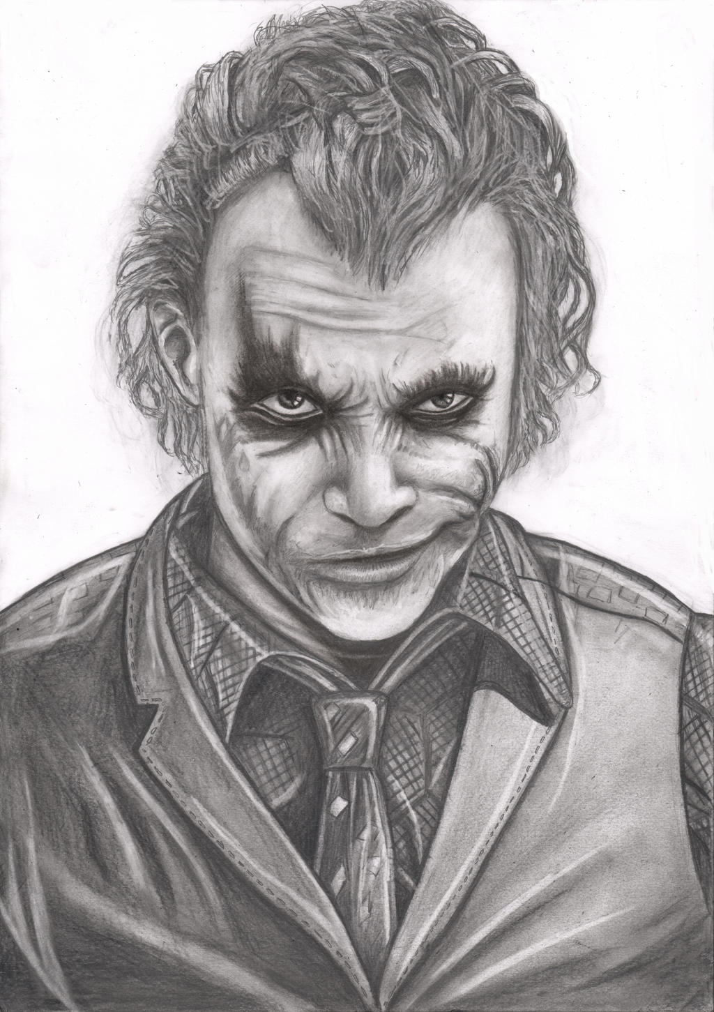 The Joker 1st attempt ... Easy Gangster Joker Drawings