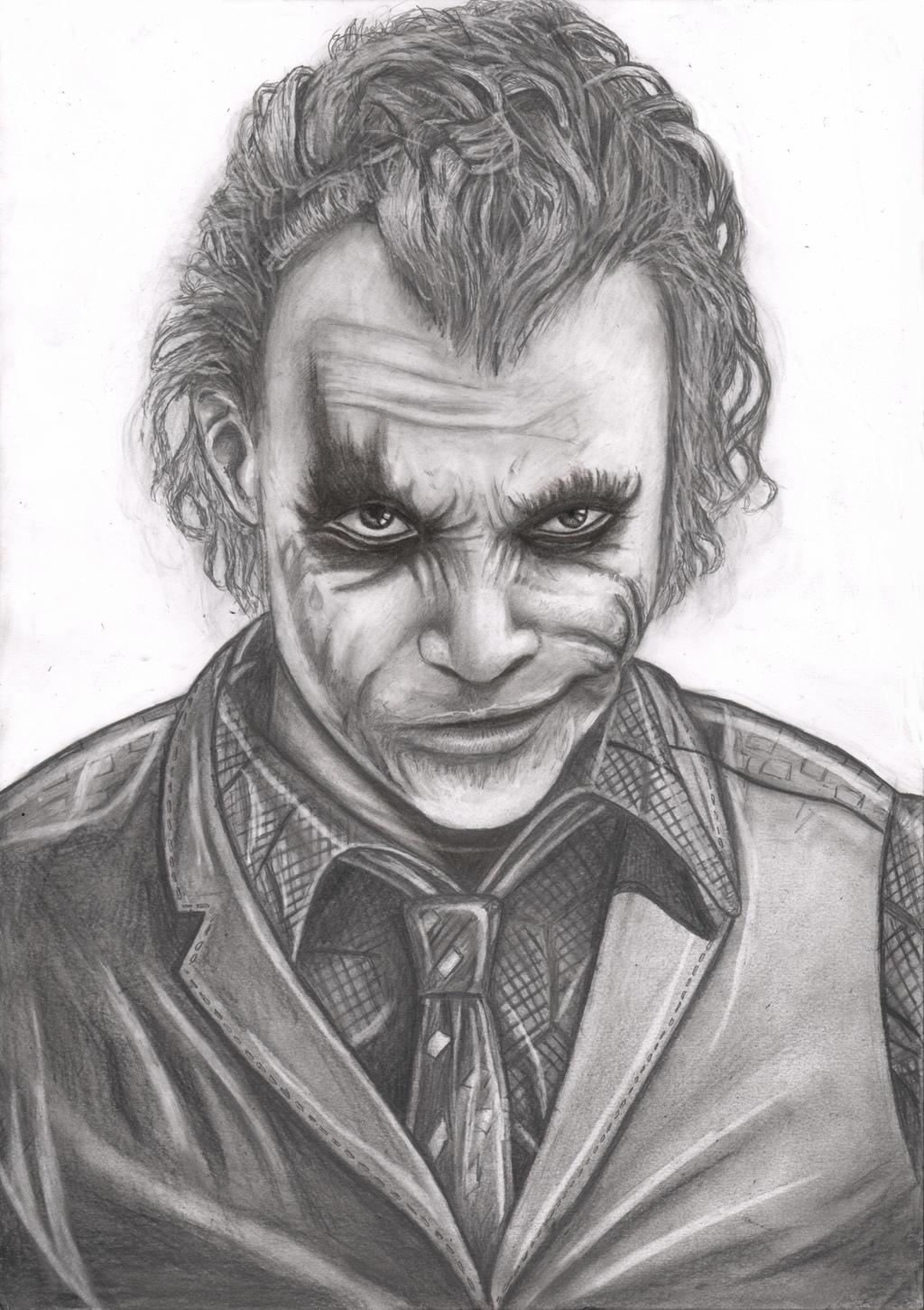 Joker Scribble Drawing : The joker st attempt by pen tacular artist on deviantart