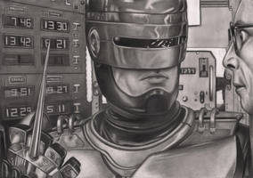 Robocop Graphite Drawing