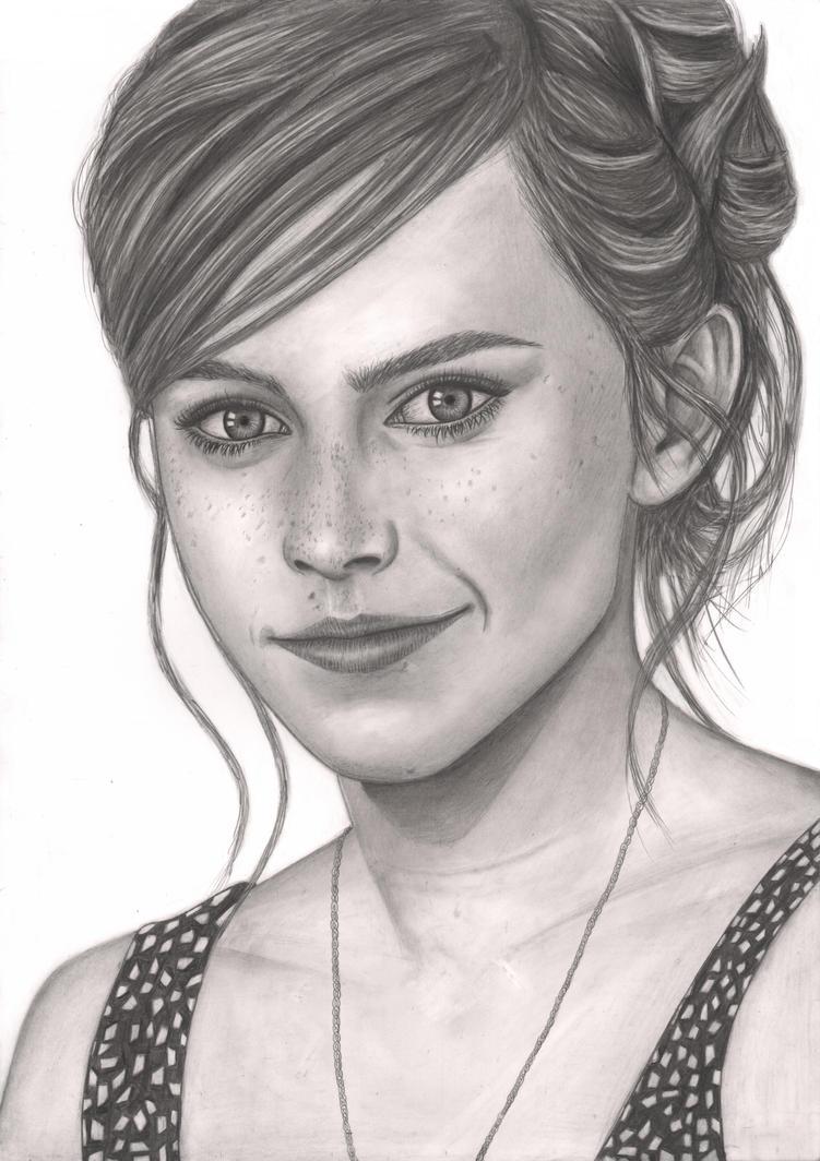 Emma Watson Graphite portrait by Pen-Tacular-Artist