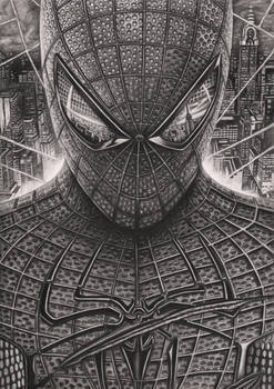 'Spiderman' Graphite Drawing