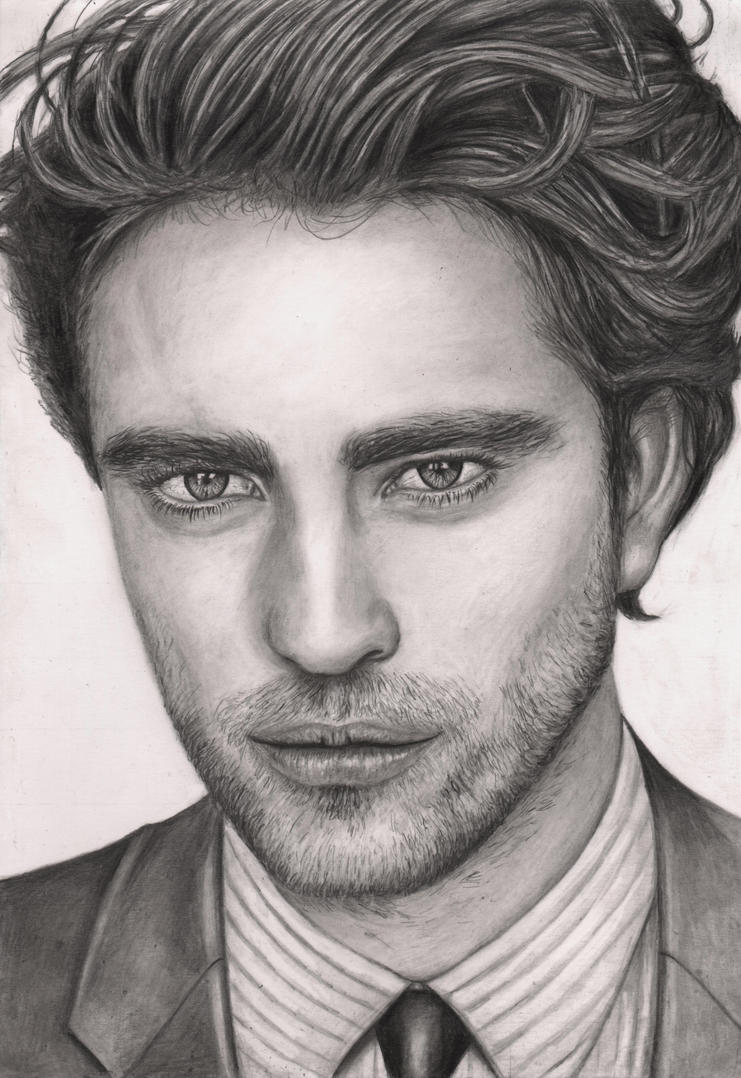 'Robert Pattinson' graphite portrait by Pen-Tacular-Artist