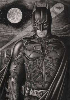 'The Dark Knight' graphite drawing