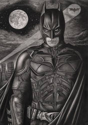 'The Dark Knight' graphite drawing by Pen-Tacular-Artist