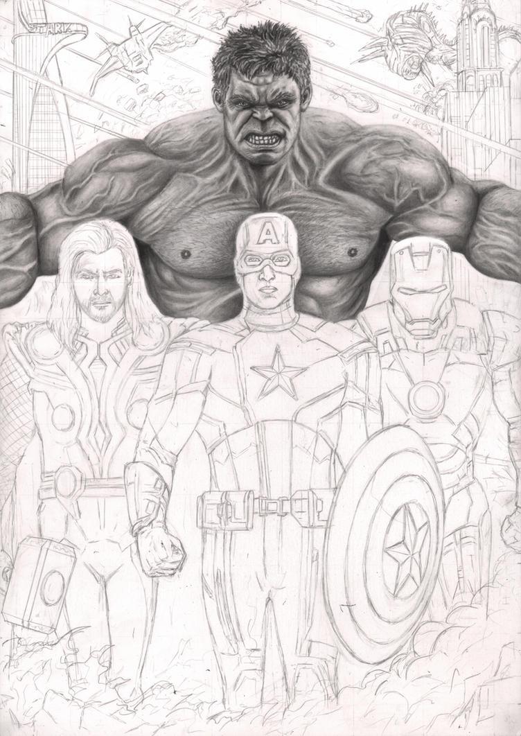 U0026#39;The Avengersu0026#39; WIP 30% By Pen-Tacular-Artist On DeviantArt