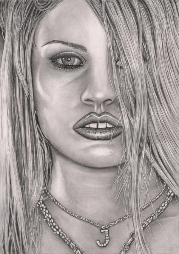 'Katie Price' graphite drawing by Pen-Tacular-Artist