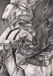 'IRON MAN 3' Robert Downey JR graphite drawing by Pen-Tacular-Artist