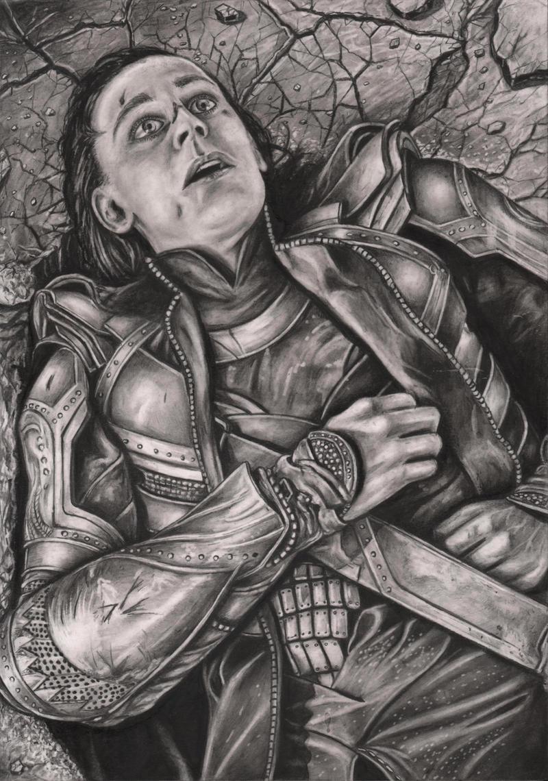 PUNY GOD'  the Avengers 'Loki' by Pen-Tacular-Artist