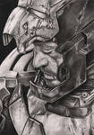 Robert Downey JR 'Iron Man 3' graphite drawing