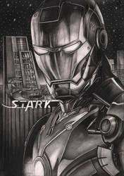 'IRON MAN' graphite drawing
