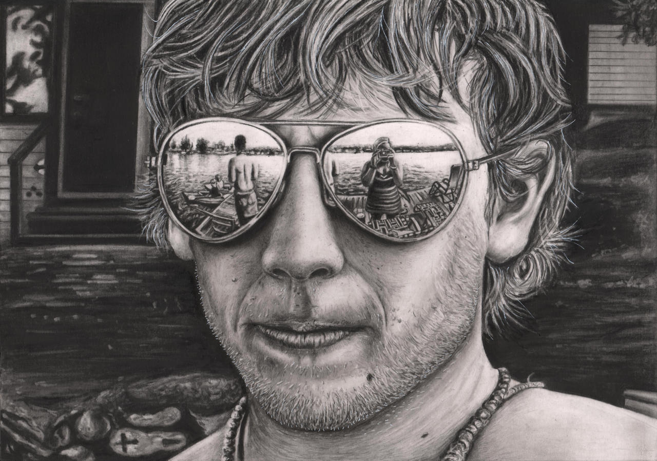 'Look into my Glasses' graphite drawing by Pen-Tacular-Artist