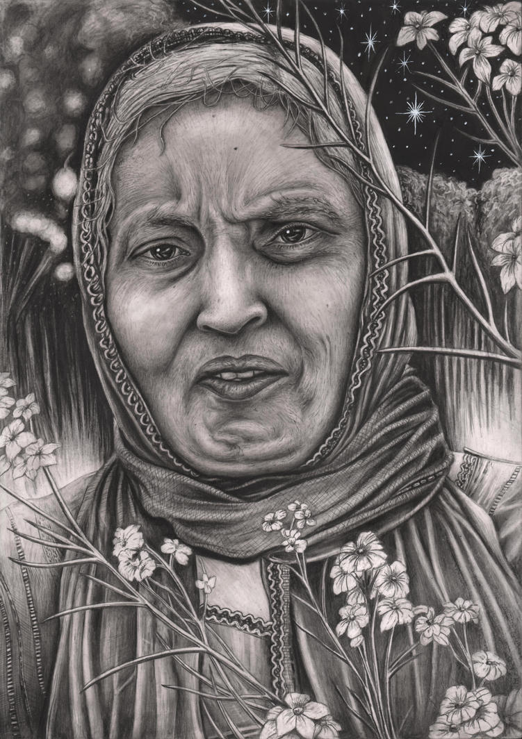 Graphite portrait of my 'MUM' by Pen-Tacular-Artist