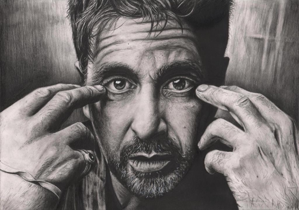 Al pacino graphite portrait by pen tacular artist