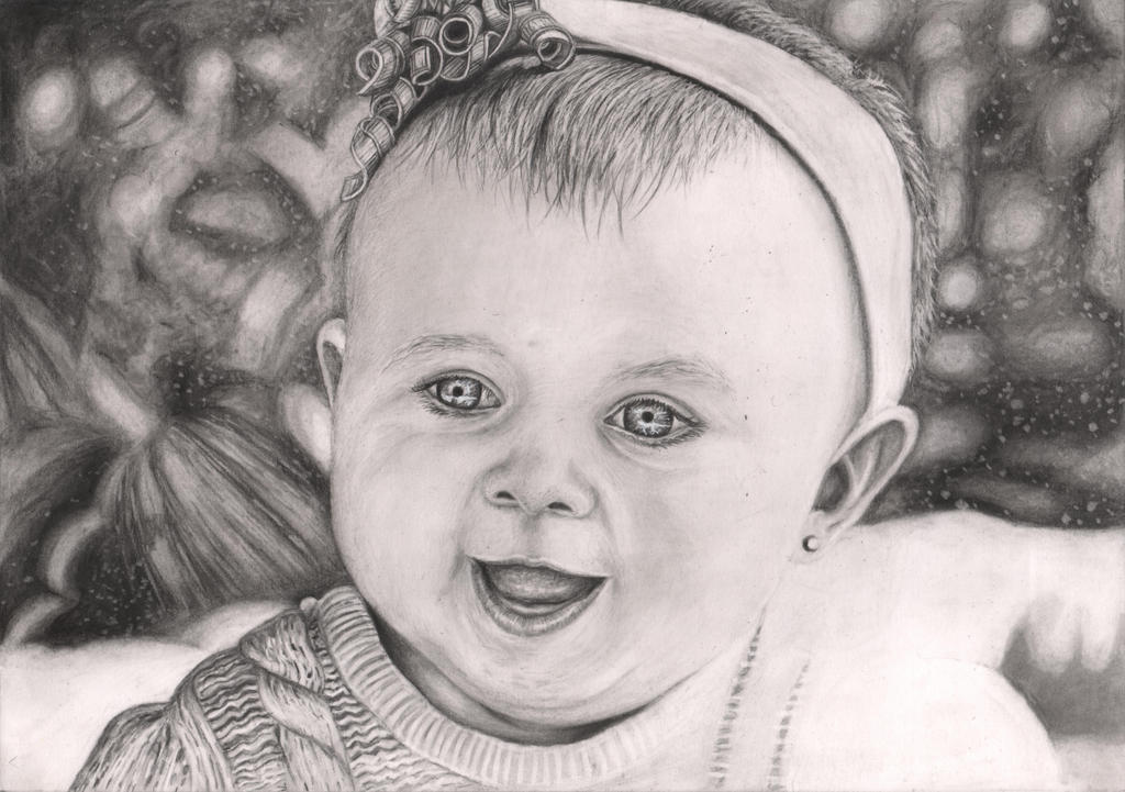 'Baby' graphite drawing by Pen-Tacular-Artist