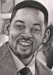 'Will Smith' graphite portrait