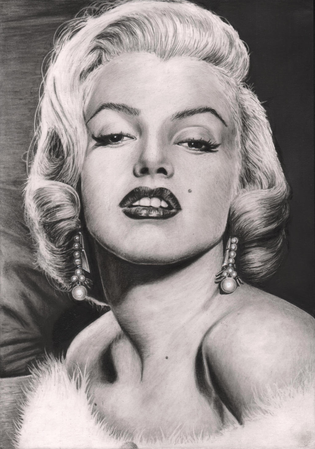 'Marylin Manroe' graphite portrait by Pen-Tacular-Artist