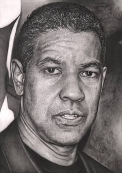 'Denzel Washington' graphite drawing