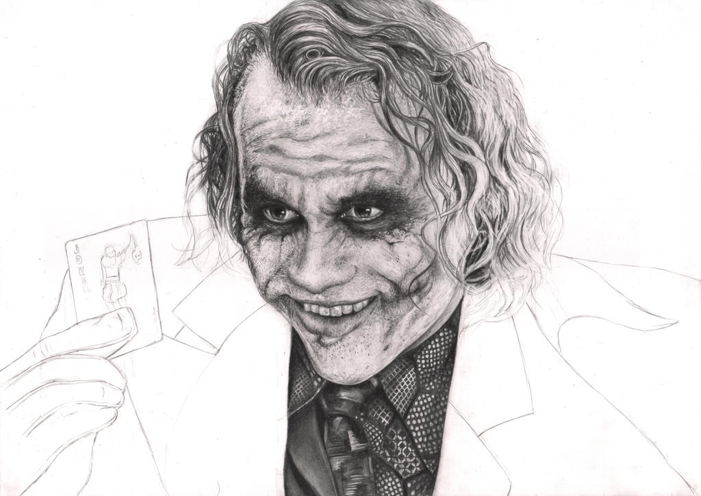 'The Joker' 35% WIP by Pen-Tacular-Artist