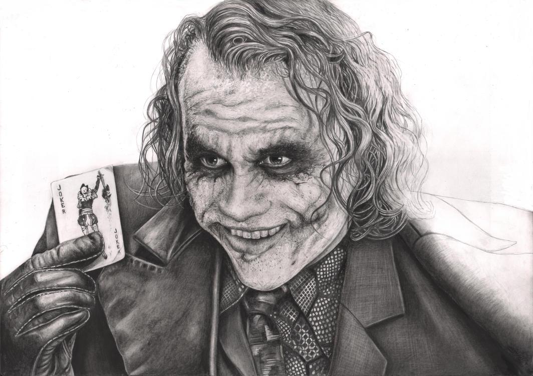 Joker Scribble Drawing : The joker nearly complete wip by pen tacular artist on deviantart
