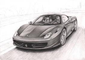 'Ferrari 458 Italia' WIP 50% by Pen-Tacular-Artist